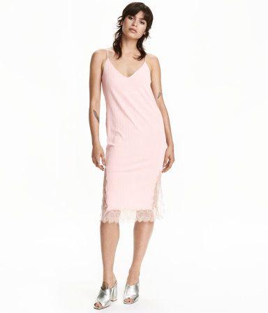 Kleid mit Spitze | Hellrosa | Damen | H&M DE