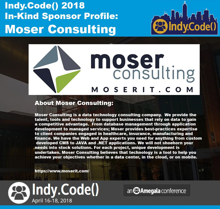 Indy.Code() InKind Sponsor Moser Consulting Consulting