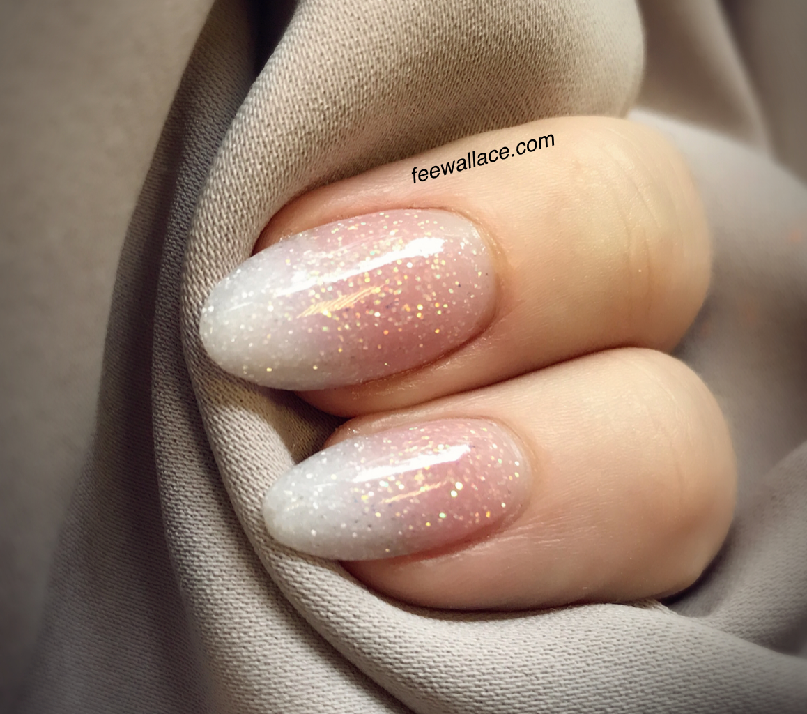 Subtle Glitter Oval Ombre French Ombre Nail Diy French Nails Ombre Nails Glitter