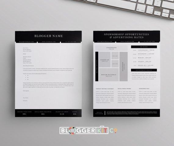 Blog Sponsorship Proposal Letter Template Ad Rate Sheet Etsy Proposal Letter Blog Sponsorships Letter Templates