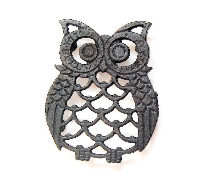 Owl Decor / Owl Kitchen / Owl Trivet / Vintage Owl / 80s. $9.40,