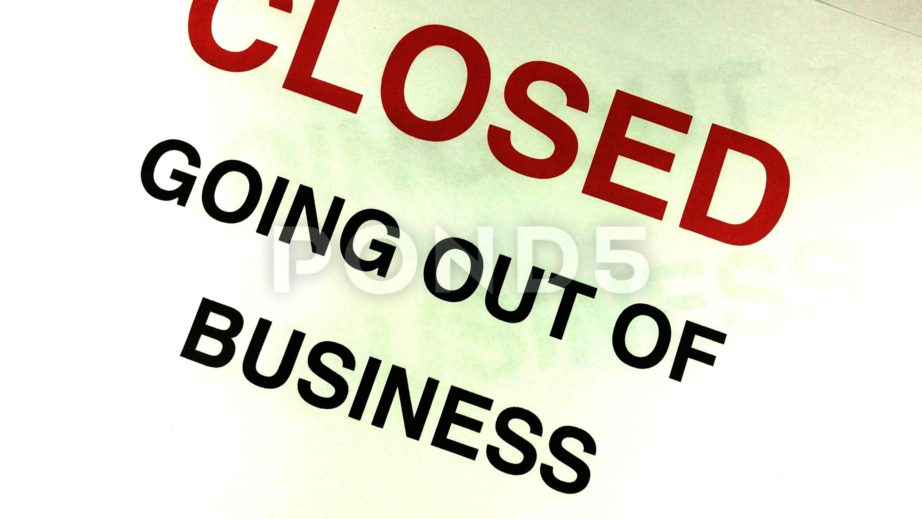 Debts closing and going out of business signs and notices Stock Footage DebtsclosingDebtrecessionDebt and recession Debts closing and going out of business signs and noti...