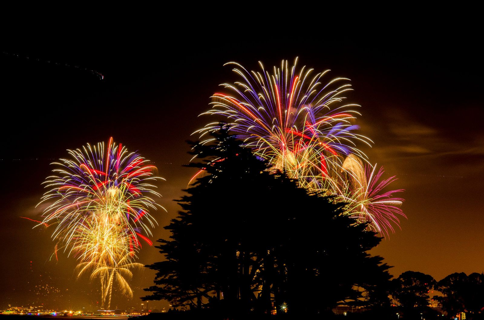 #photography July Fourth Fireworks - San Francisco California