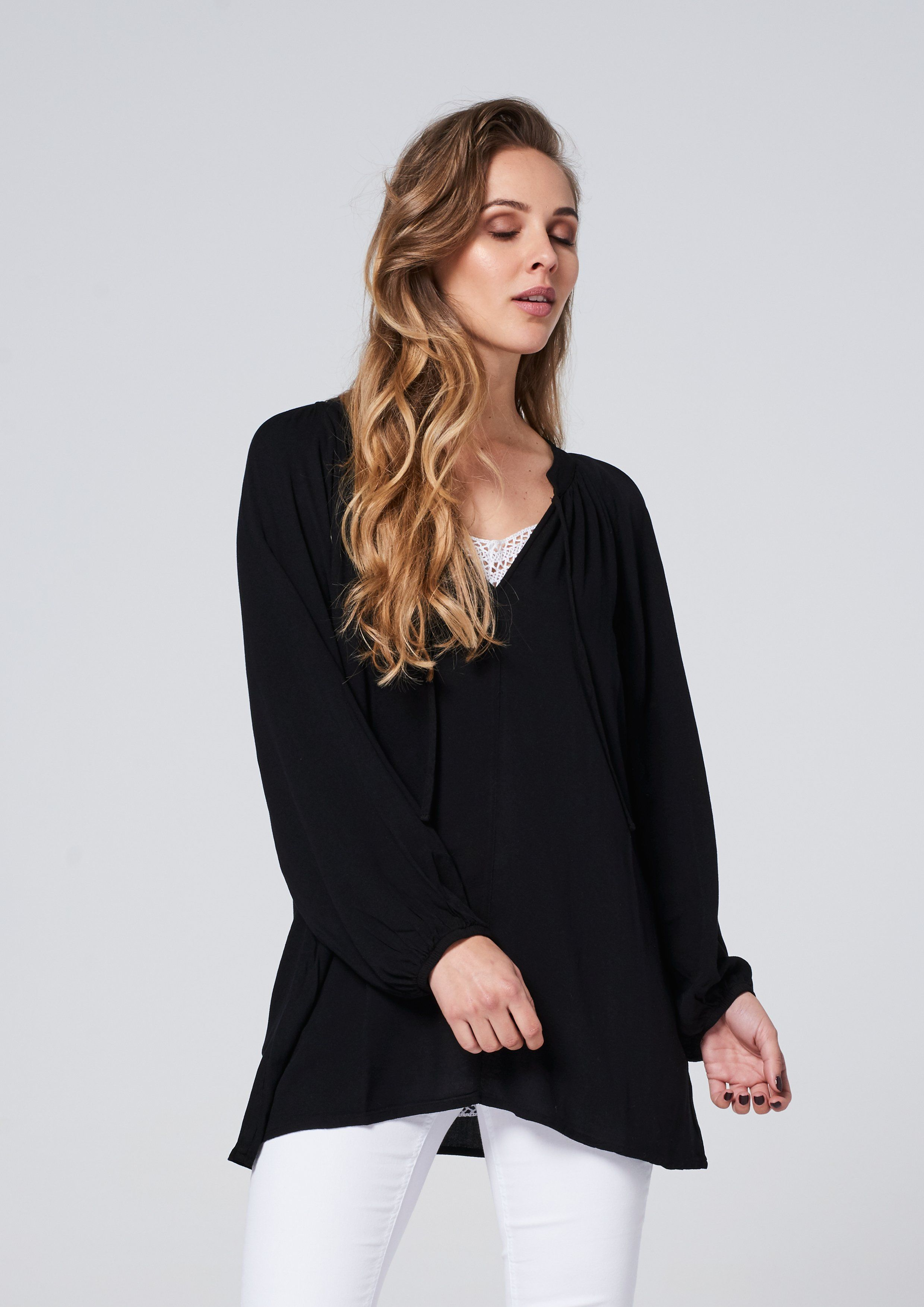 Buy How to black a wear flowy top picture trends