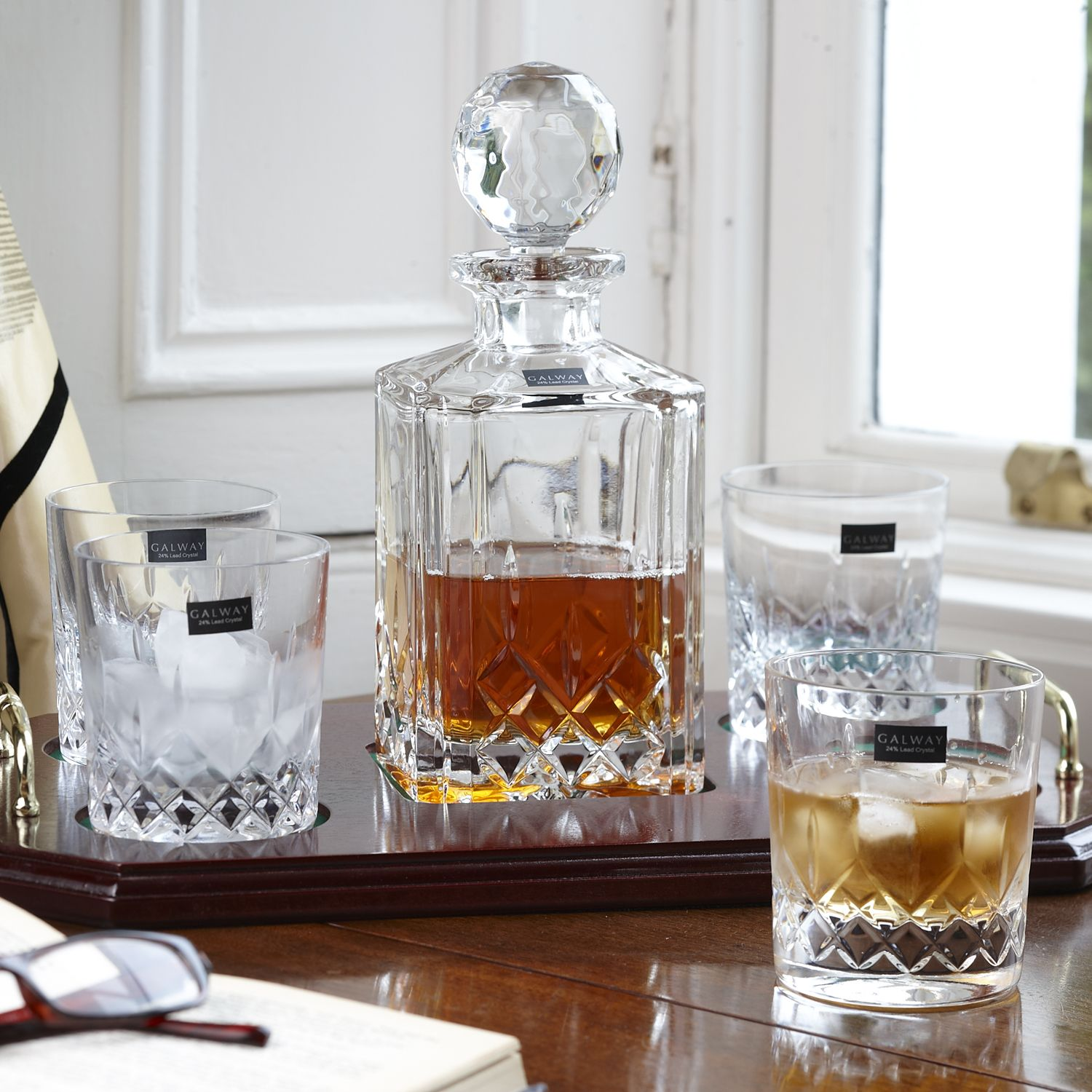 Irish Crystal - Father' Day Dads Love Whiskey Decanter