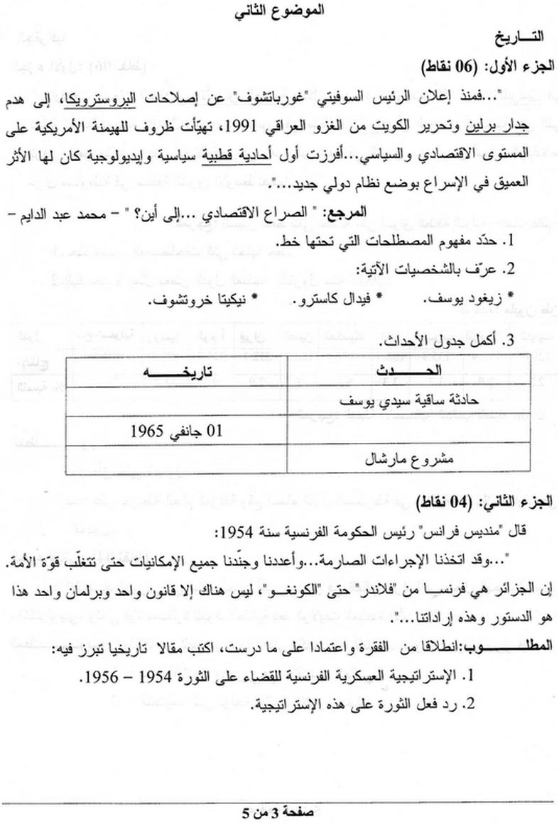 موضوع التاريخ و الجغرافيا 2011 منتديات الجلفة لكل الجزائريين و العرب Math Sheet Music Math Equations