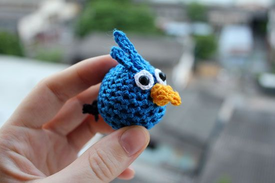 Blue Angry Birds Amigurumi -~ Free Russian Pattern