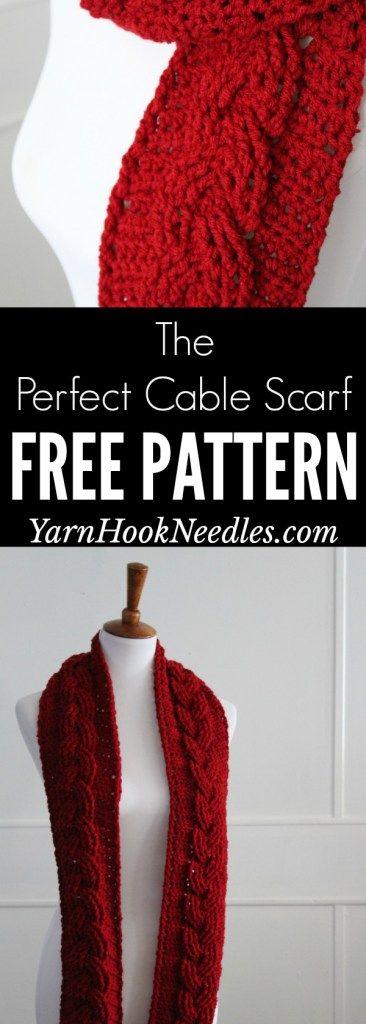 Crochet Cable Scarf Using One Skein of Yarn! - YarnHookNeedles ...