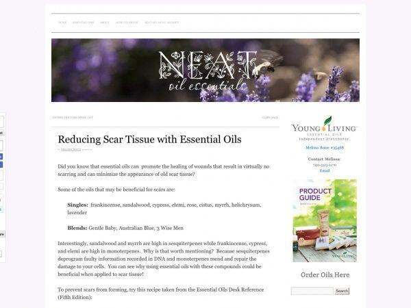 Reducing Scar Tissue with Essential Oils