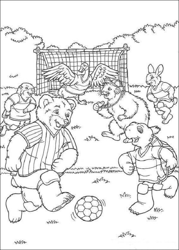 Franklin & friends play soccer | Soccer Coloring Pages | Pinterest ...