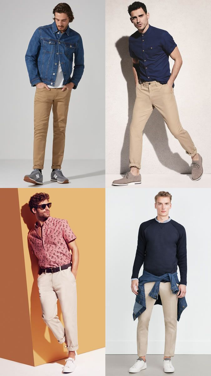 19bd072a0e Men s Beige Chinos Outfit Inspiration Lookbook