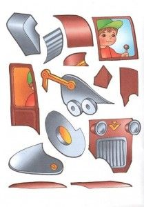 tractor cut and paste activities | Miss.ca CD giao thong | Pinterest ...