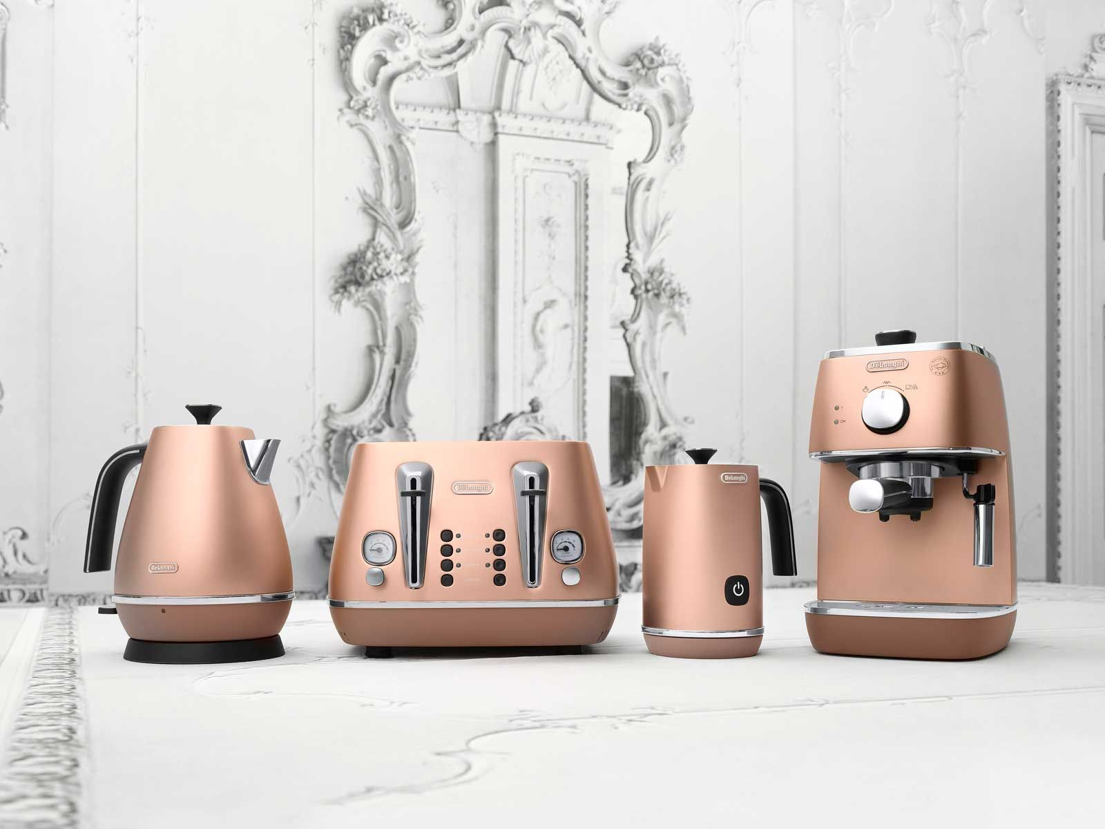 Delonghi Distinta Copper Kitchen Appliances Are Amazing Copper Kitchen Appliances Rose Gold Kitchen Copper Kitchen