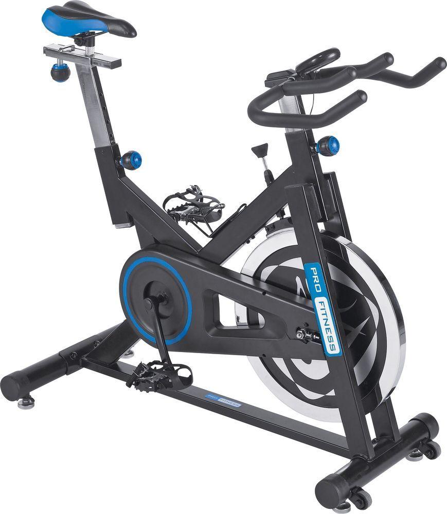 Pro Fitness Jx Manual Resistance Spinning Bike Black And Blue