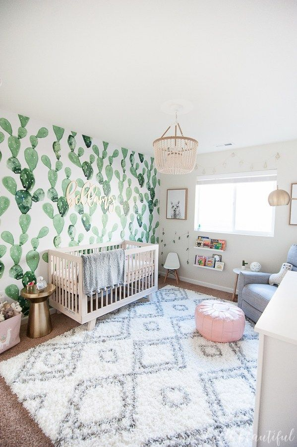 Cactus and Llama Baby Girl Nursery Reveal! images