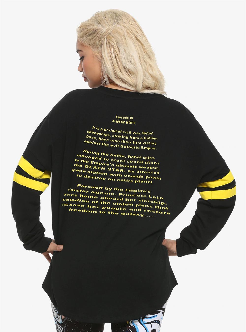 Star Wars Girls A New Hope Opening Crawl Sweatshirt
