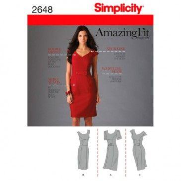 Simplicity Amazing Fit Collection. Women\'s Petite Dress 2648 Have ...