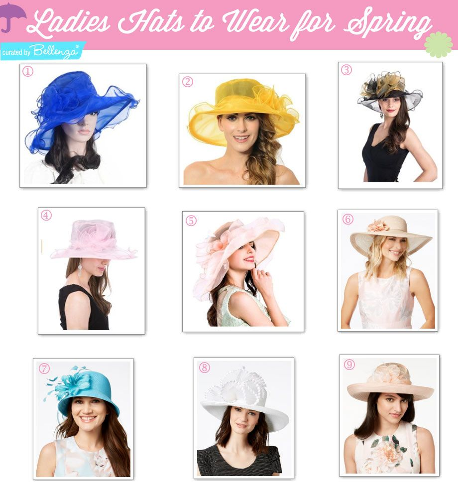 Stylish Ladies Hats To Wear For Spring Tea Parties To Luncheons Tea Party Outfits Tea Party Attire Spring Tea Party [ 980 x 920 Pixel ]