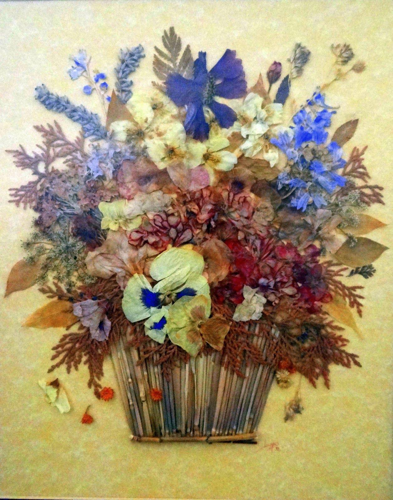 Flores secas cuadros con flores secas pinterest - Arreglos florales con flores secas ...