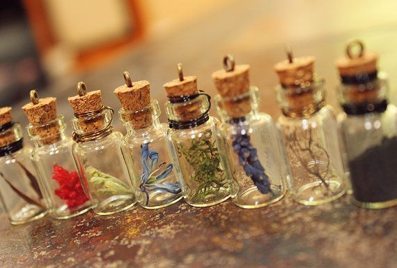 Skyrim Inspired Alchemy Ingredient Pendant by MojaveOutpost