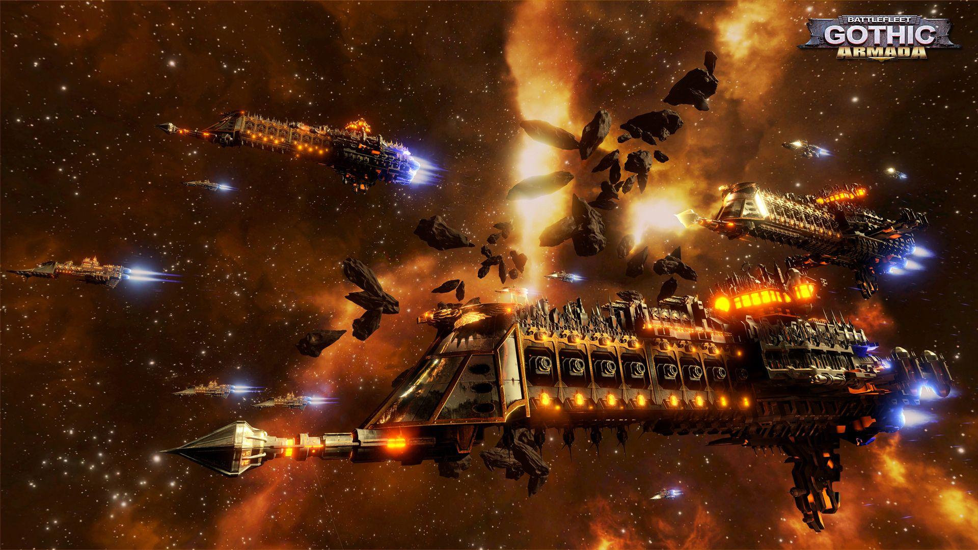 Video Game Battlefleet Gothic Armada Battle Spaceship