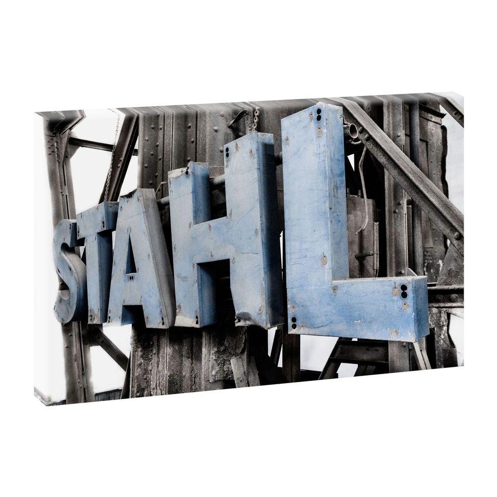 Top Bilder Kunstdruck auf Leinwand XXL- Stahl -100cm*65cm V 0420360