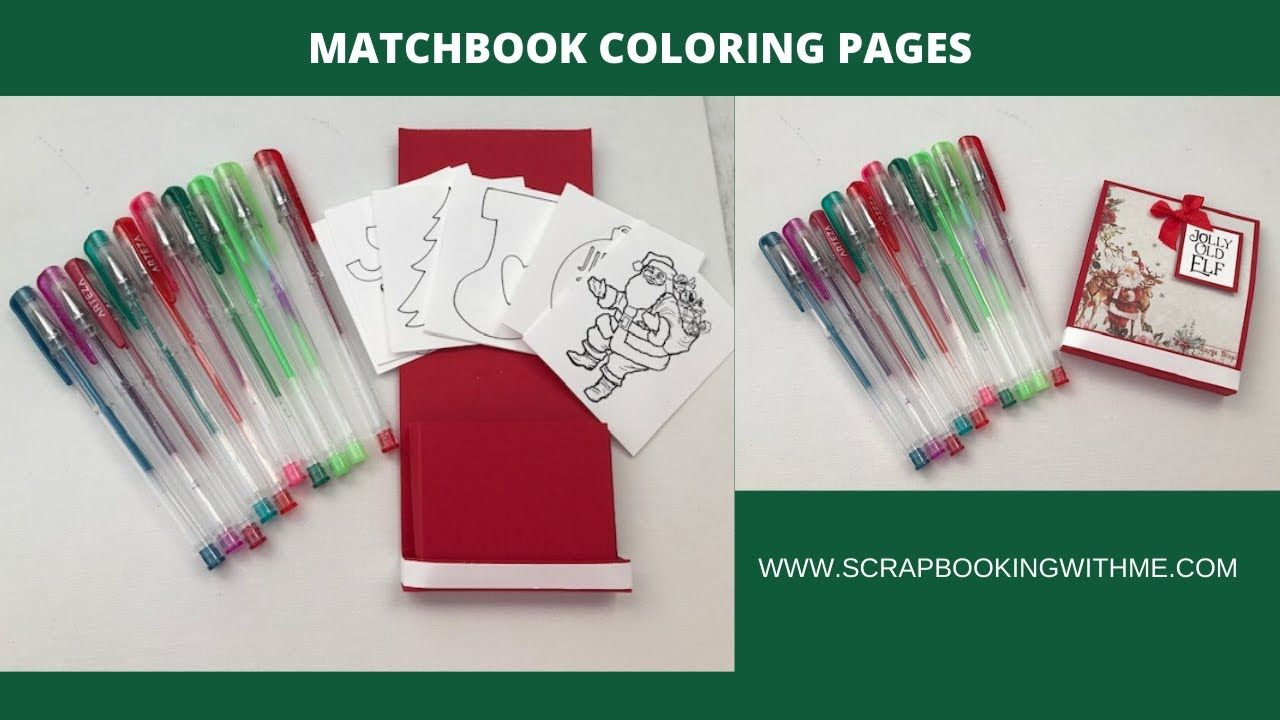 MATCHBOOK COLORING PAGES FOR LITTLE TABLES - YouTube ...