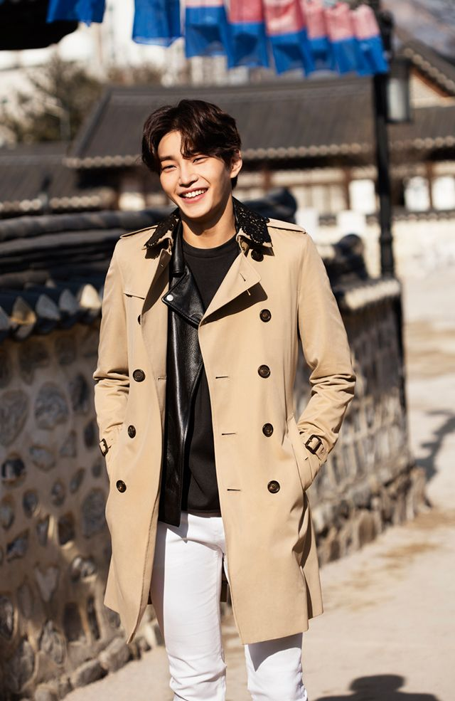 03a3d8f3666f Model Kim Jae Young wearing a Burberry Chelsea fit trench coat with lace  detail at Namsan Hanok Village for Art Of The Trench Seoul