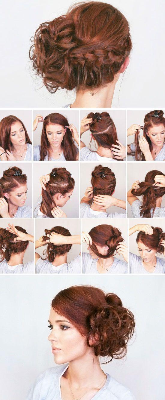 17 einfache Boho-Frisuren für mittleres Haar #romanticlace