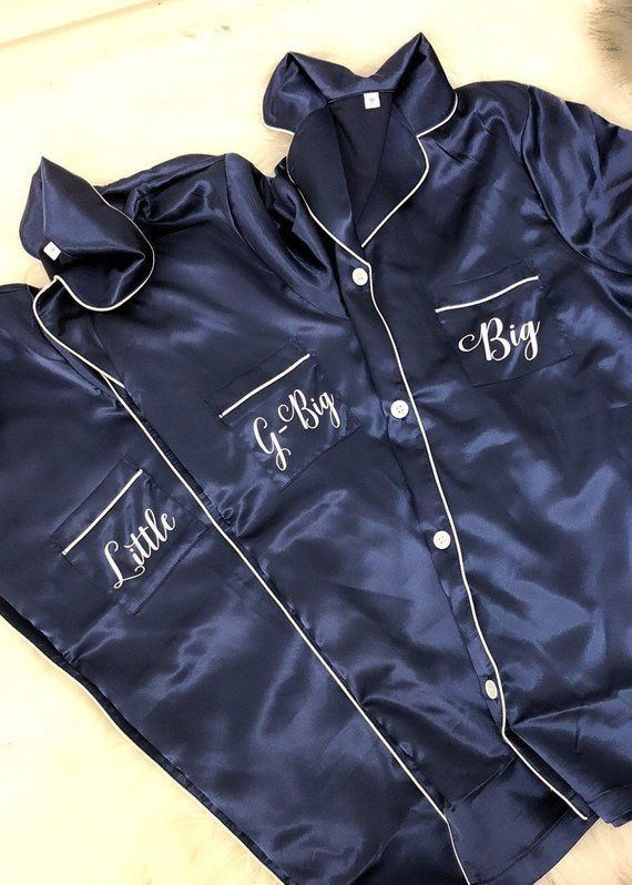 CUSTOMIZED BRIDESMAID PAJAMA Long Set Pajama Set Big little Gift, big little sorority, Little Big, reveal shirt, gbig sorority gift #biglittlerevealthemes