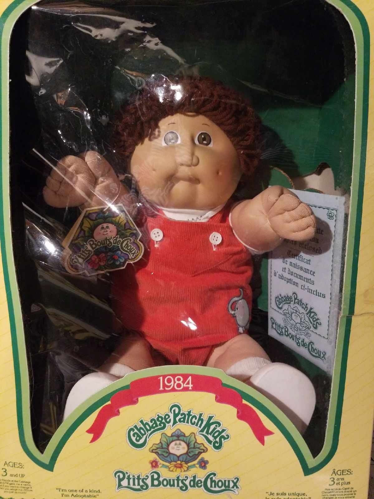 Cute Prtits Bouts De Choux Cabbage Patch Doll 1984 New In Box Has French Birth Certificate G Cabbage Patch Dolls Cabbage Patch Kids Dolls Cabbage Patch Kids