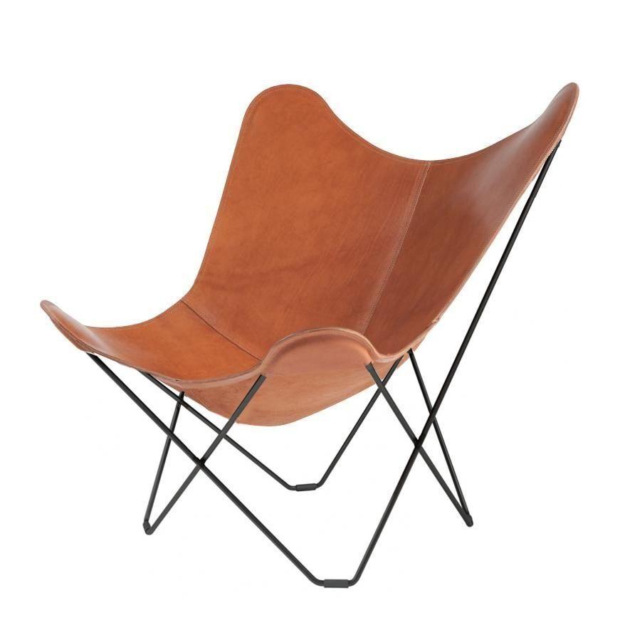 cuero pampa mariposa butterfly chair sessel gestell schwarz