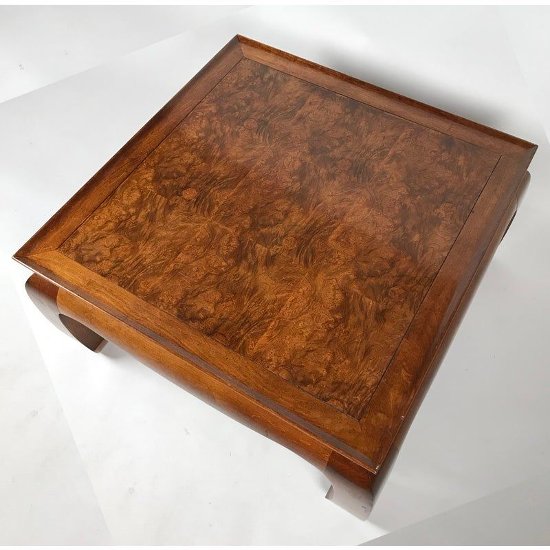 Ming Style Burl Coffee Table Chairish Stoleshnica Stol