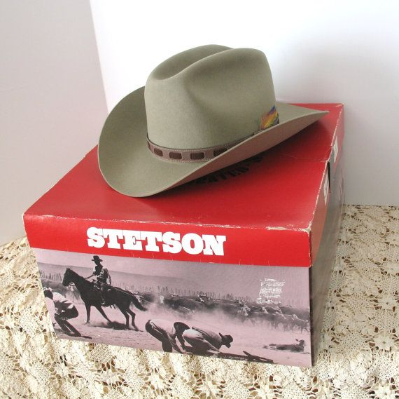 Reserved Vintage Stetson Hat And Box Cowboy Vintage Brown Hat Stetson Hat Stetson Hats