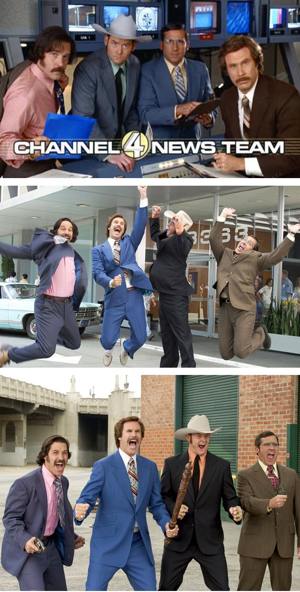 Anchorman The Legend Of Ron Burgundy Channel 4 News Team Anchorman Ron Burgundy Channel 4 News