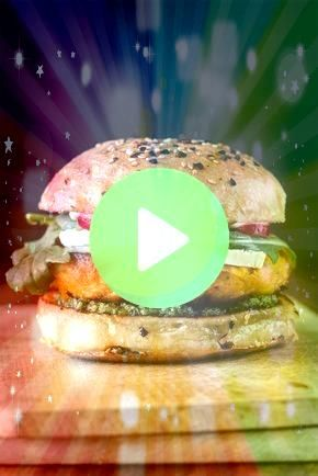 burger with goat cheese and rocket pesto Vegan sweet potato burger  SüßkartoffelRezepte  This recipe is reproduced from Green Kitchen at Home by David Fr...