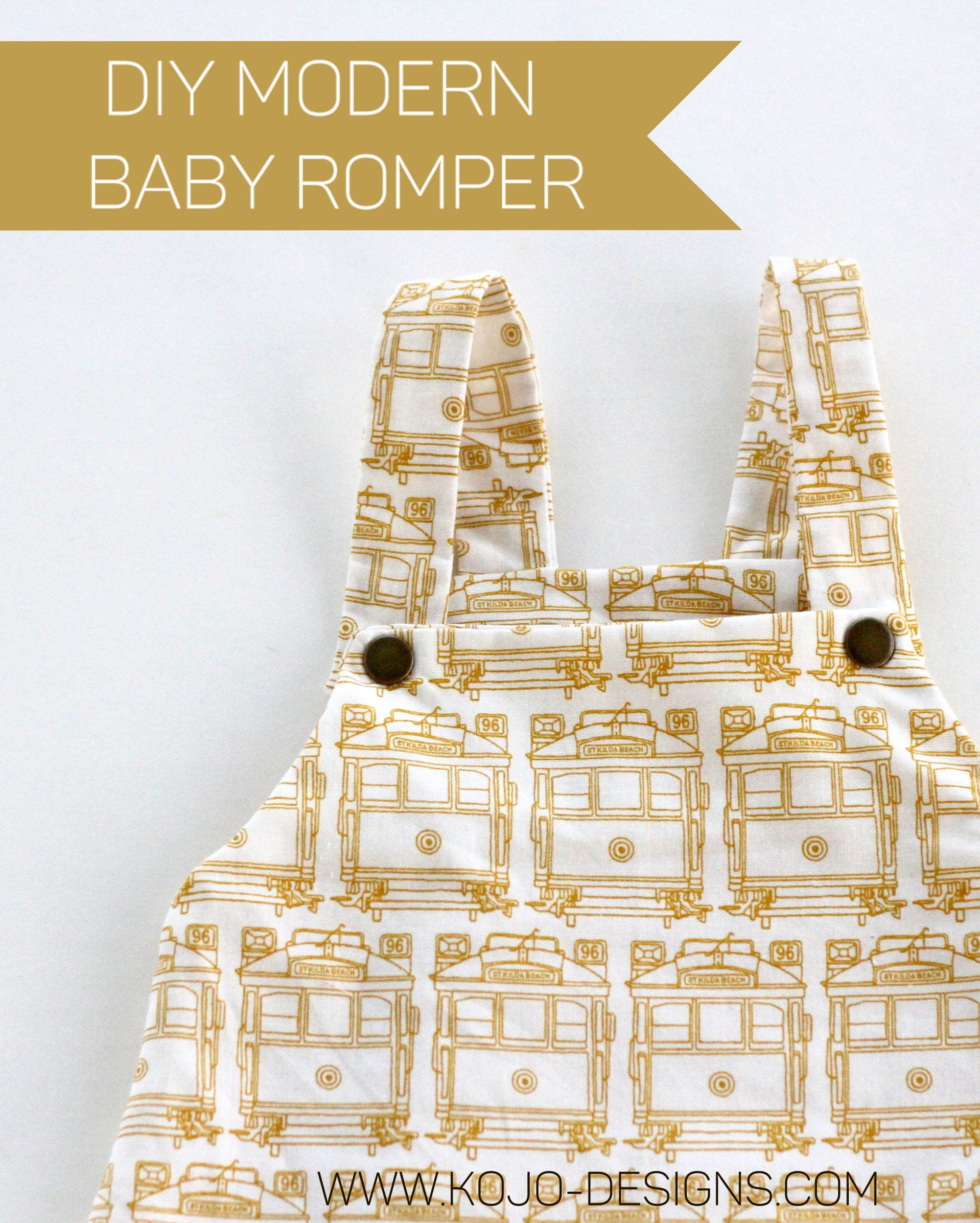 how to make a modern baby boy romper   free sewing patterns   Pinterest