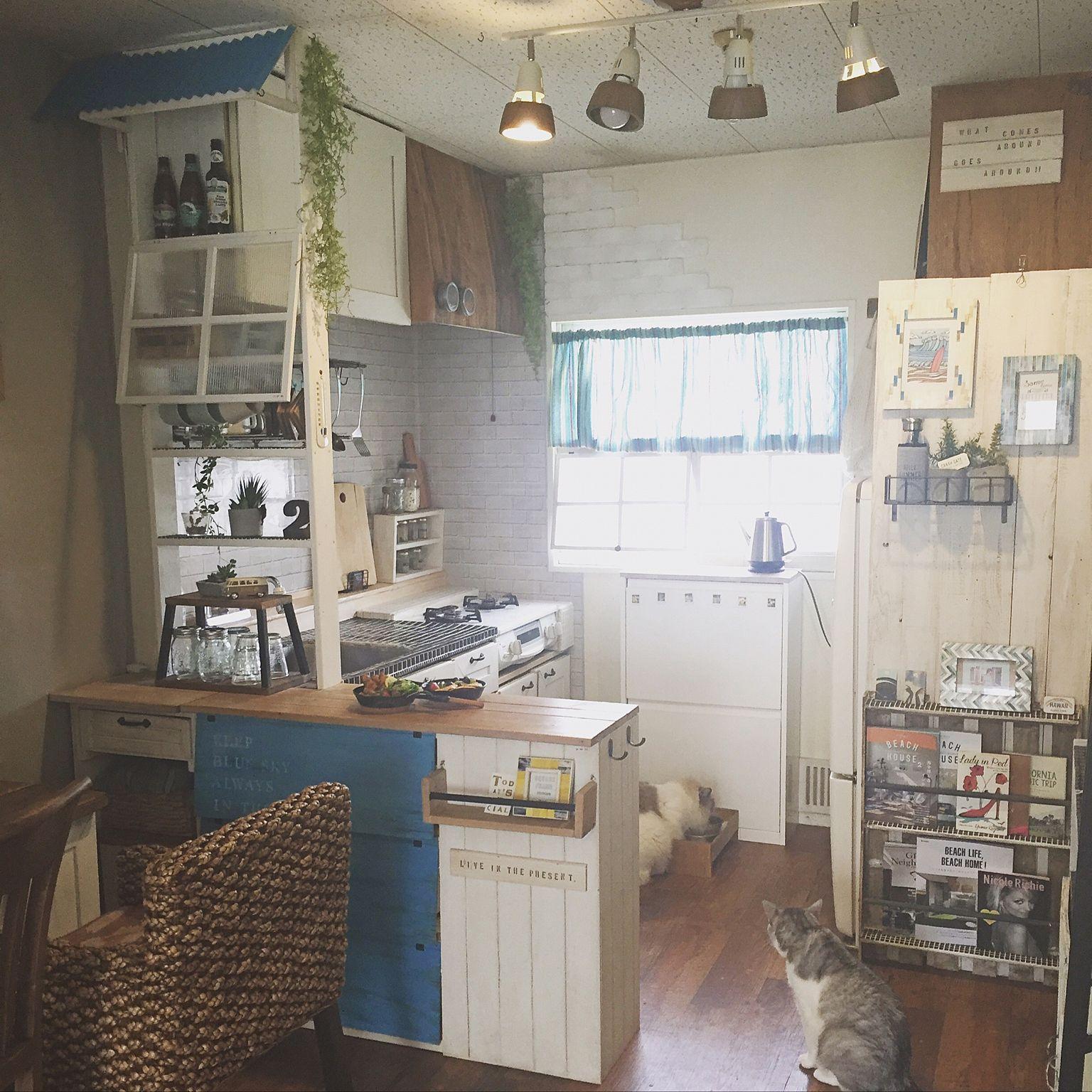 Kitchen/DIY/手作り/キッチンカウンター/賃貸/原状回復...などのインテリア実例 - 2016-07-04 06:10:10