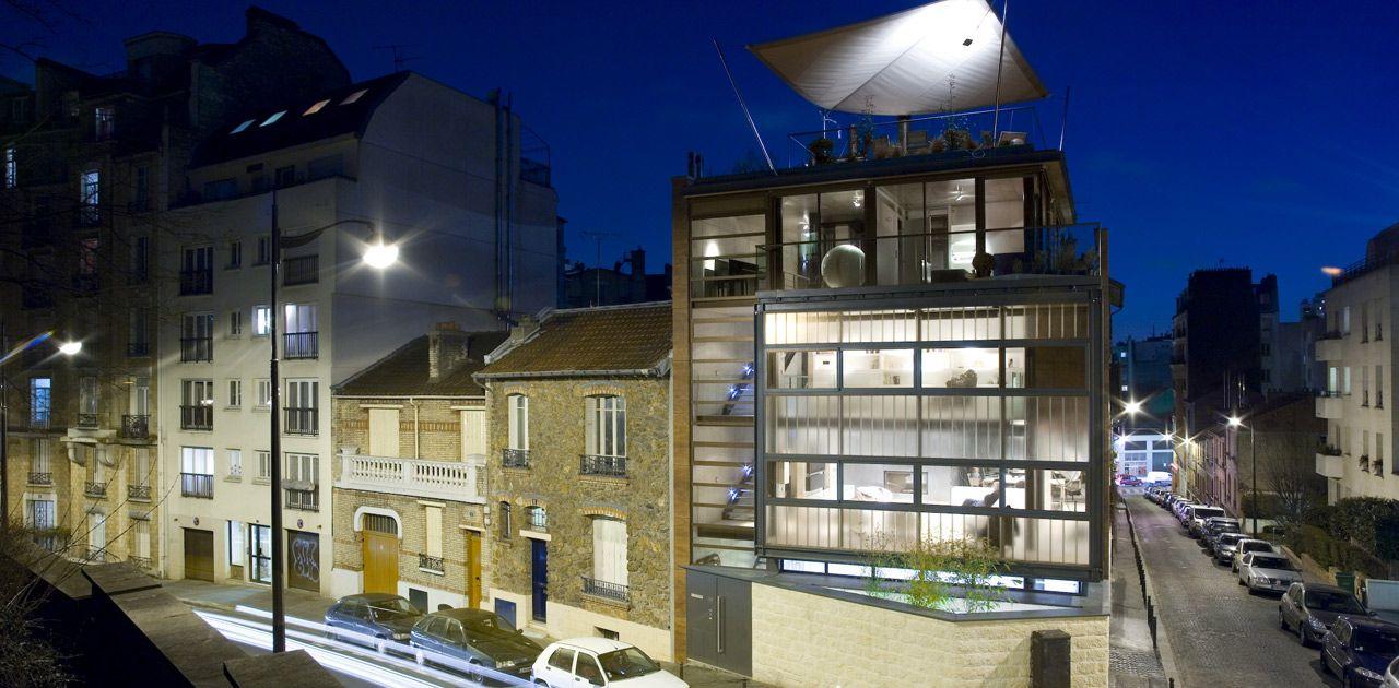 pablo katz architecture maison de ville ck06 places pinterest belle maison maison et. Black Bedroom Furniture Sets. Home Design Ideas