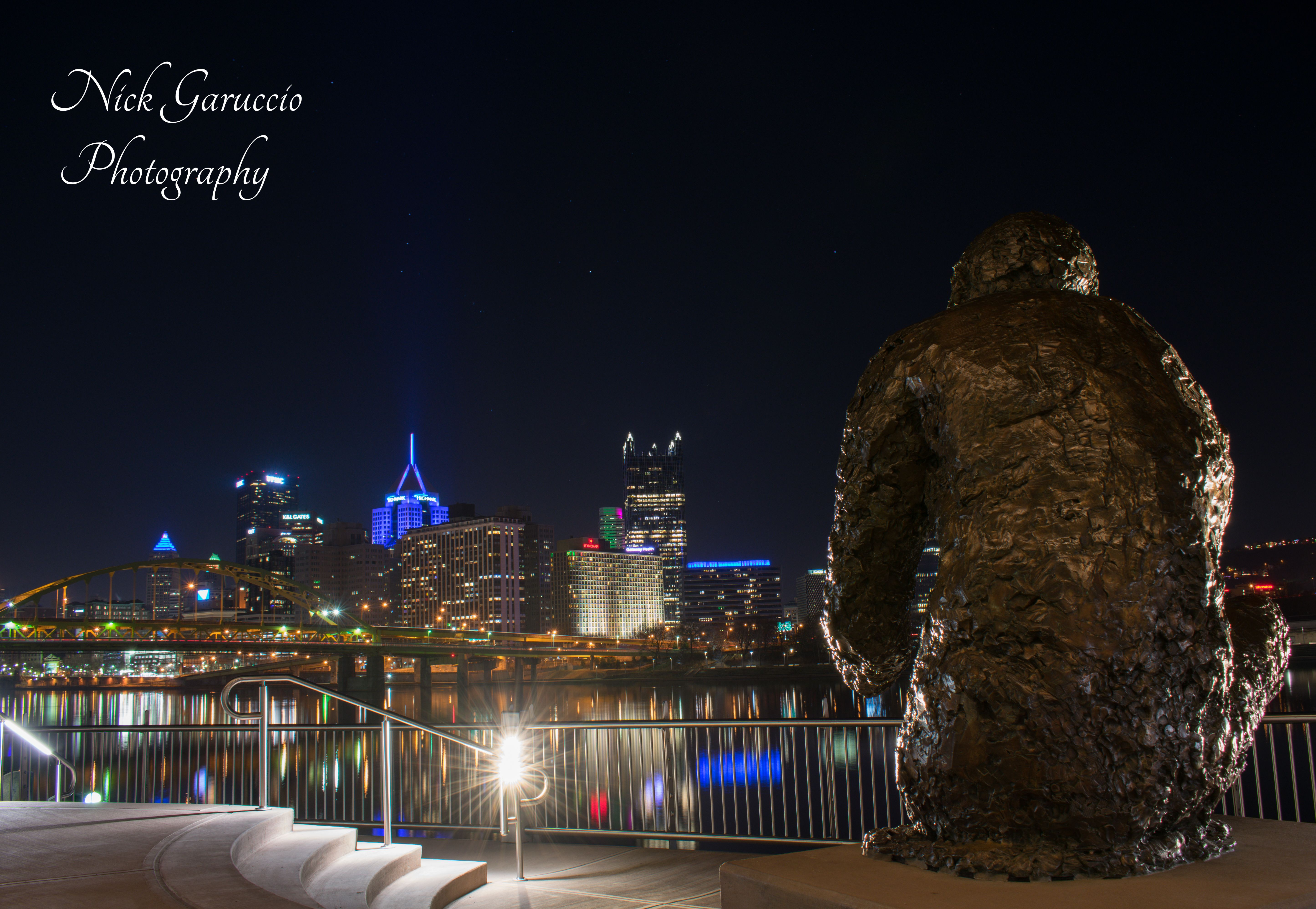Mister Fred Rogers Memorial Statue On Looking The Golden Triangle Pittsburgh Cityscape Pittsburgh Allegh In 2020 Pittsburgh Cityscape Memorial Statues Pittsburgh City
