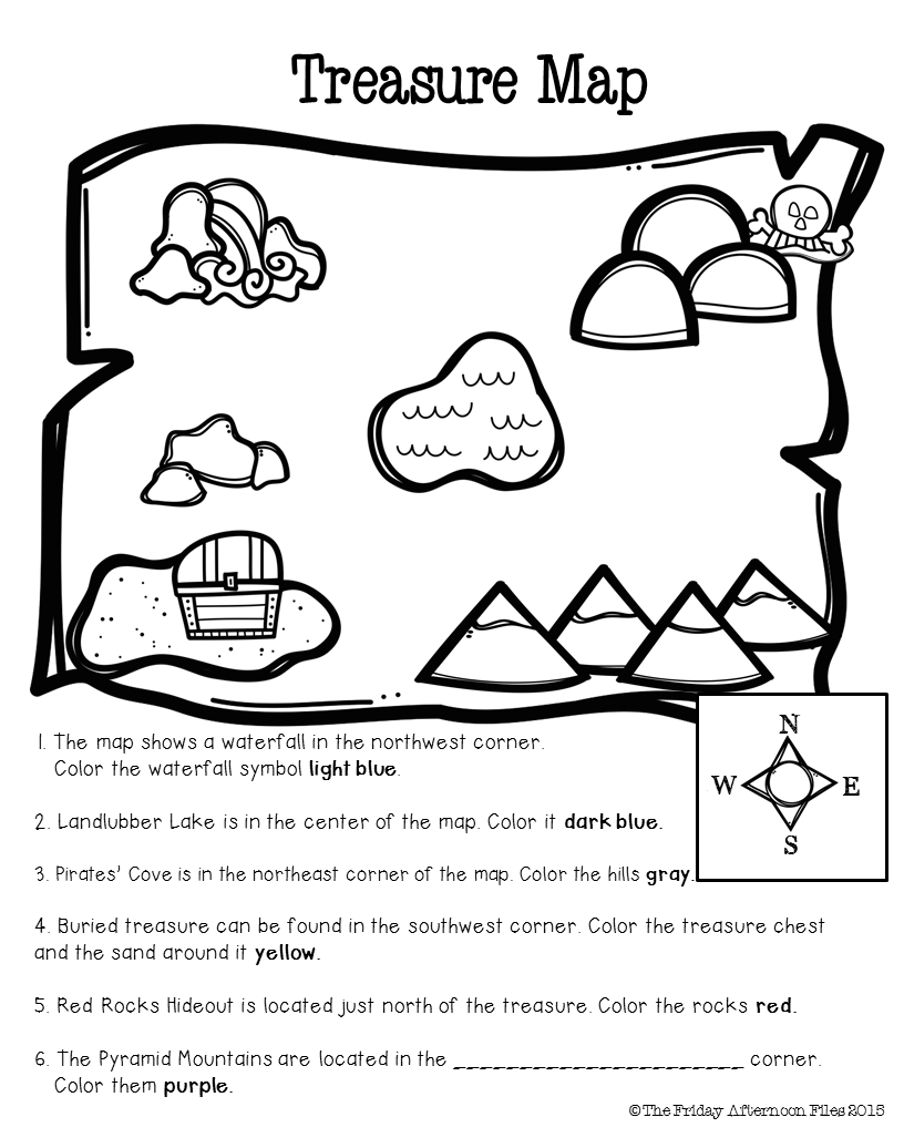 Pirate Mini Unit Misc Pinterest Map Skills Social Studies