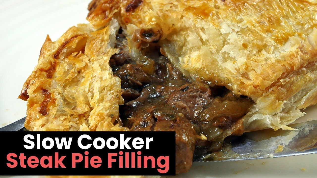 Rich and Chunky Slow Cooker Steak Pie - YouTube | Steak ...