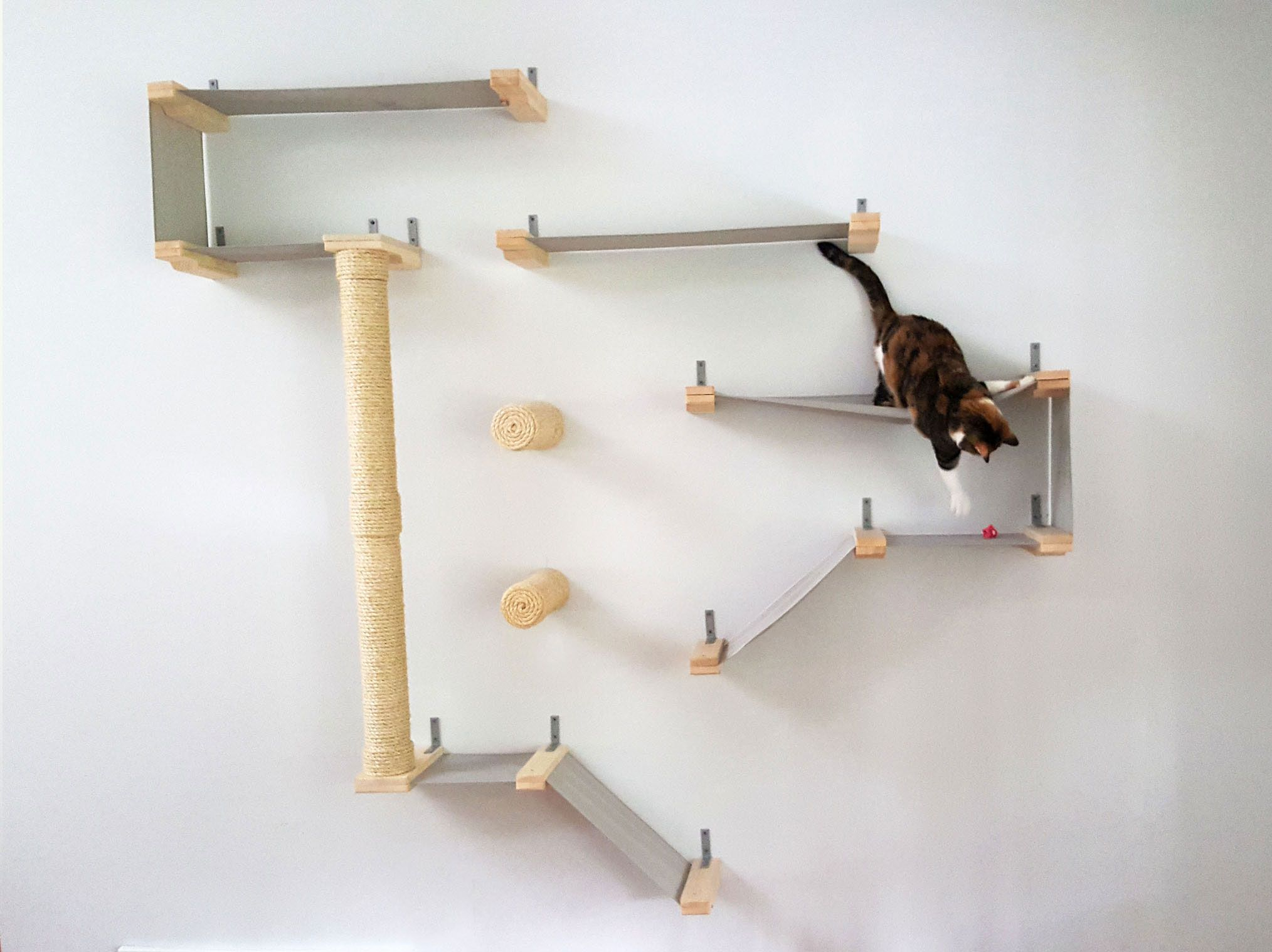 Massive All In One Cat Complex With Cat Shelves, Sisal And Ladders
