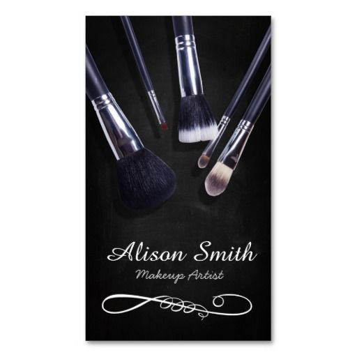 Makeup Artist Brushes Cosmetic Brushes Business Card Zazzle Com Makeup Artist Business Cards Design Makeup Artist Business Cards Makeup Artist Business Cards Templates