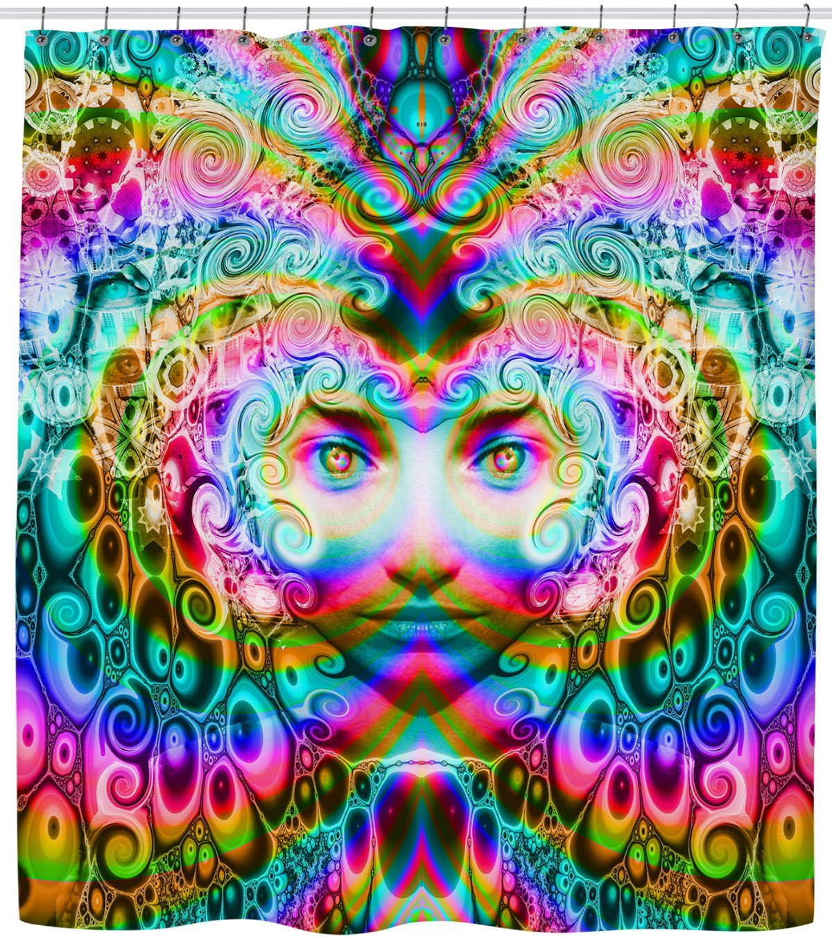 Super Trippy Awesome Energy Shower Curtain Designed By Visionary Art Master Larry Carlson This Product Is Hand Mad With Images Trippy Artwork Psychedelic Art Surreal Art