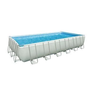 Intex 24 Ft X 12 Ft X 52 In Rectangular Pool Set 28361eg The Home Depot Rectangular Pool Rectangular Swimming Pools Swimming Pools