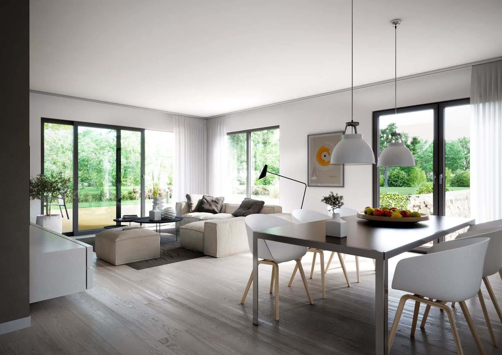 Kern-Haus Futura Bauhaus Wohnzimmer | Haus Inspo | Pinterest ...
