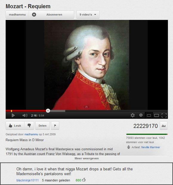 I love it when Mozart drops a beat...
