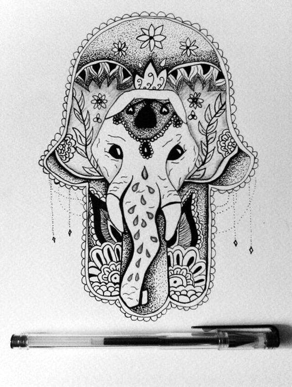 Indie hipster drawings