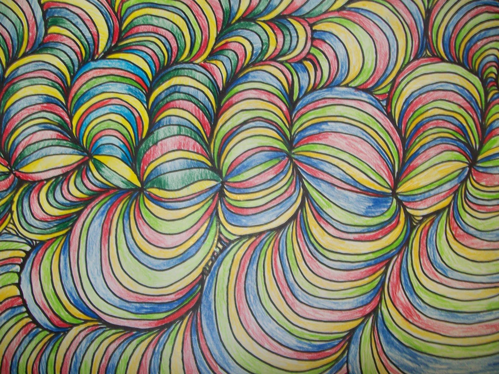 Artwork Using Lines : Art with mr e line design w shading student work in